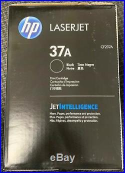 New Genuine Factory Sealed HP 37A Laser Toner Cartridge New Black Box CF237A