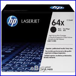 New Genuine HP 64X Laser Cartridges Toner Printer-Tested 100% Toner NO BOX
