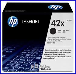 New Genuine SEALED BAG HP 42X Laser Toner Cartridge Toner Black Packaging NO BOX
