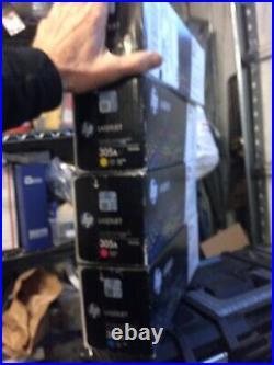 New Set, 4 Genuine HP Ce410a Ce411a Ce412a Ce413a 305a Factory-sealed, Fast Ship