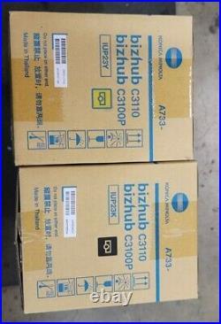 OEM Konica Minolta Bizhub Black and Yellow Imaging Drum Units C3100P IUP23K/Y