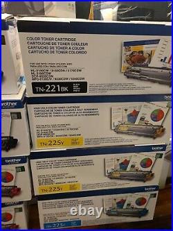 OPNBX 8 Genuine Brother Color Toner Cartridges TN221 TN225c 225m 225y