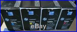 SET 4 Genuine Sealed Bag HP 124A Toner Cartridges Q6000A Q6001A Q6002A Q6003A