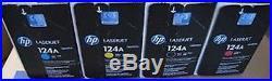 SET 4 New Genuine SEALED BAG HP 124A Toner Cartridges Q6000A Q6001A Q6002A etc