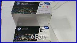 SET 4 New Genuine Sealed HP 124A Toner Cartridges Q6000A Q6001A Q6002A Q6003A