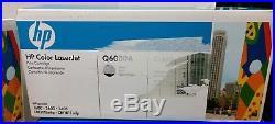 SET 4 New Genuine Sealed HP Toner Cartridges Q6000A Q6001A Q6003A (No Yellow)