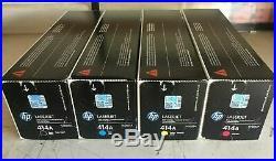SET of 4 GENUINE FACTORY SEALED HP W2020A W2021A W2022A W2023A TONERS 414A