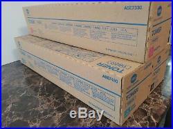 Set 2 Genuine Sealed Konica Minolta TN622M TN622C TN622K Toner Cartridges