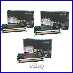 Set 3 Genuine Lexmark C734A4CG C734A1MG C734A1KG Toner Cartridges C734 C736