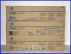 Set 3 Genuine OEM Sealed Konica Minolta TN411K TN611M TN611C Toners