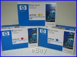 Set 3 New Genuine Sealed HP Q5951A Q5952A Q5953A Toner Cartridges 643A NO BLACK