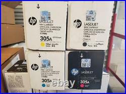 Set 4 Fact Sealed Genuine HP CE410X CE411A CE412A CE413A Cartridges 305A 305X