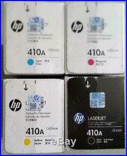 Set 4 Factory Sealed Genuine HP CF410A CF411A CF412A CF413A Toners 410A