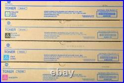 Set 4 Genuine Factory Sealed Konica Minolta TN514K TN514Y TN514M TN514C Toners