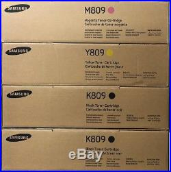 Set 4 Genuine Factory Sealed OEM K809 M809 Y809 Samsung Toners (No Cyn)