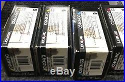 Set 4 Genuine Lexmark 1-C544X1CG 2-C544X4YG 1-C544X1MG Toner Cartridges C544X