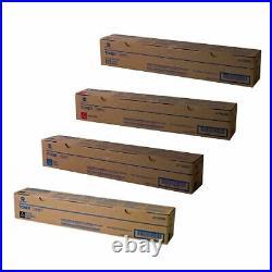 Set 4 Genuine Sealed Konica Minolta TN319K TN319M TN319Y TN319C Toners DAMAGE