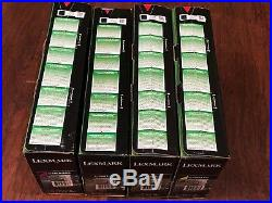 Set 4 Genuine Sealed OEM Lexmark C746H1KG C746A1CG C746A1YG C746A1MG Toners