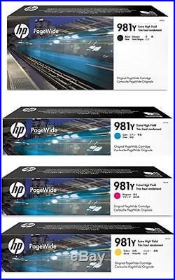 Set 4 New Genuine OUT OF BOX HP 981Y Extra Hi Yield KCMY Ink Cartridges 2020