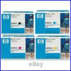 Set 4 New Genuine Sealed HP Q5950A Q5951A Q5952A Q5953A Toner Cartridges 643A