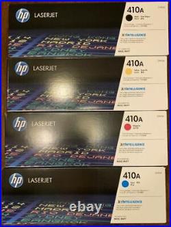 Set 4 OPEN BOX Genuine HP 410A Toner Cartridges CF410A CF411A CF412A CF413A