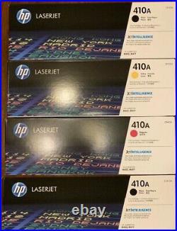 Set 4 OPEN BOX Genuine HP 410A Toner Cartridges CF410A CF412A CF413A NO CYAN