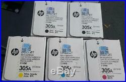 Set 5 Fact Sealed New Genuine HP CE410XC CE411AC CE412AC CE413AC Cartridges 305A