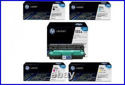 Set 5 Sealed Genuine HP Q3960A Q3961A Q3962A Q3963A Q3964A Cartridges Drum 122A
