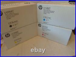 Set HP 646A CMYK CE264XC CF031AC CF032AC CF033AC Cartridge Factory Sealed Boxes