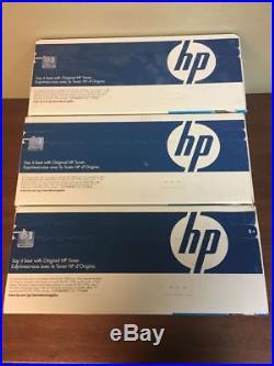 Set Of 3 HP CE251A/CE252A/CE253A/ Cyan, Yellow, Magenta Toner Cartridges CP3525