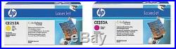 Set of 2 New Genuine Factory Sealed HP CE252A Yel CE253A Mag Toners 504A