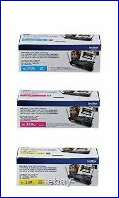 Set of 3 New Genuine Brother TN-339C TN-339M TN-339Y High Yield Toner Cartridges