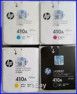Set of 4 Factory Sealed Genuine HP CF410A CF411A CF412A CF413A Toners 410A