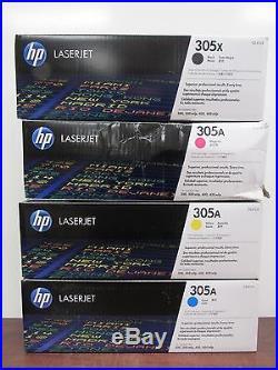Set of 4 Genuine HP CE410X CE411A CE412A CE413A Cartridges 305A 305X 22C