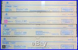 Set of 4 Genuine Sealed Konica Minolta TN512K TN512M TN512Y TN512C Toners