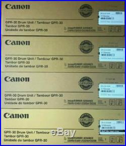 Set of 4 New Genuine Factory Sealed Canon GPR-30 Black and Color Drum Units