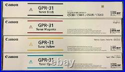 Set of 4 New Genuine Factory Sealed Canon GPR-31 K C M Y Toner Cartridges
