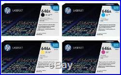 Set of 4 New Genuine HP CE264X CF031A CF032A CF033A Toner Cartridges 646A 646X