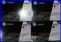 Set of 4 New Genuine Sealed HP Q5950A Q5952A Q5953A Toner Cartridges 643A NO CYN