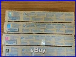 Set of 4 New Genuine Sealed Konica Minolta TN512K TN512M TN512Y TN512C Toners