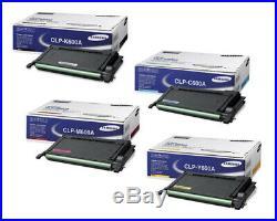 Set of 4 New Sealed Genuine Samsung K600A C600A M600A Y600A Toner Cartridges