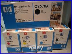 Set of 5 New Factory Sealed HP Q2670A Q2681A Q2682A Q2683A Laser Cartridges