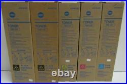 Set of 5 New Genuine Sealed Konica Minolta TN612K TN612M TN612Y TN612C Toners