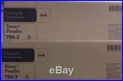 TWO (2) Genuine Fact Sealed Oce 794-3 Toner Cartridges IM3510 IM3511 IM4510 etc