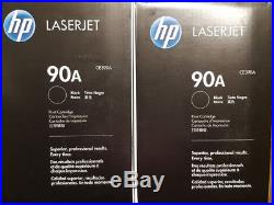 TWO (2) MOSTLY New Genuine HP 90A Laser Cartridge Tested at 80% Toner Remaining