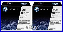 TWO MOSTLY New Genuine HP 90X Laser Toner Cartridges Printer Tested both at 90%