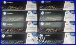 TWO Sets 4 Genuine Sealed HP CB540A CB541A CB542A CB543A Toner Cartridges 125A