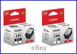Total of 50 Virgin Genuine EMPTY Canon 245XL Blk & 246XL Clr Inkjet Cartridges