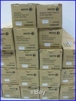 Xerox 7500 EMPTY VIRGIN Toner Cartridges USED LOT OF 20 HIgh & Standard